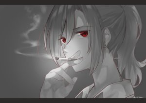 Rating: Safe Score: 43 Tags: aozaki_touko cigarette close gray kara_no_kyoukai karinto_yamada long_hair polychromatic ponytail red_eyes signed smoking User: otaku_emmy
