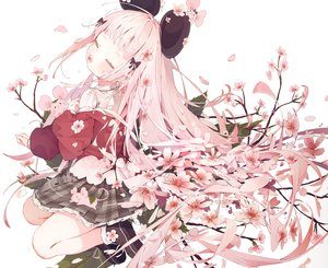 Rating: Safe Score: 97 Tags: animal animal_ears cherry_blossoms cropped dolphro-kun flowers leaves loli long_hair mouse mousegirl original pink_hair school_uniform skirt User: otaku_emmy