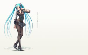 Rating: Safe Score: 132 Tags: aqua_hair hatsune_miku long_hair panties pantyhose striped_panties takouji twintails underwear vocaloid User: SciFi