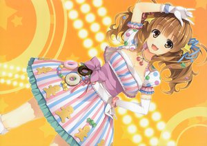 Rating: Safe Score: 222 Tags: blush breasts brown_eyes brown_hair cherry cleavage dress elbow_gloves food fruit gloves idolmaster idolmaster_cinderella_girls long_hair moroboshi_kirari necklace ribbons twintails yuuki_hagure User: Wiresetc