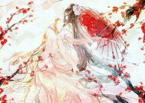 Rating: Safe Score: 68 Tags: animal bird brown_hair dress flowers long_hair miemia miracle_nikki petals umbrella User: RyuZU