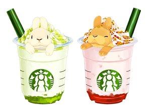 Rating: Safe Score: 10 Tags: animal drink lilac_(pfeasy) nobody original rabbit waifu2x white User: otaku_emmy
