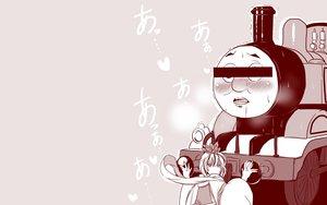 Rating: Safe Score: 63 Tags: amazon_(taitaitaira) blush japanese_clothes monochrome pink thomas_the_tank_engine thomas_the_tank_engine_(character) toramaru_shou touhou train User: mattiasc02
