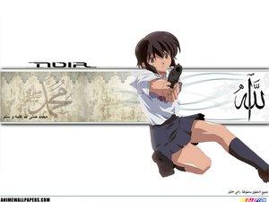 Rating: Safe Score: 3 Tags: black_hair brown_eyes gun noir weapon yuumura_kirika User: Oyashiro-sama