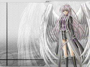 Rating: Safe Score: 38 Tags: boots braids gloves gray gray_eyes gray_hair long_hair uniform wings User: Oyashiro-sama