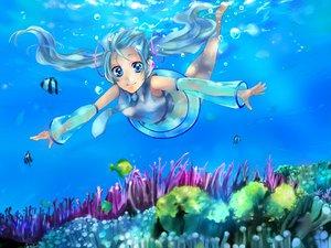 Rating: Safe Score: 7 Tags: animal fish hatsune_miku underwater vocaloid water User: HawthorneKitty