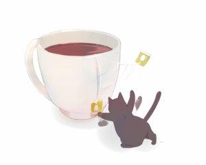 Rating: Safe Score: 9 Tags: animal cat chai_(artist) drink nobody original signed white User: otaku_emmy