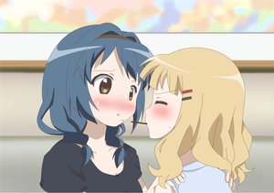 Rating: Safe Score: 63 Tags: blush furutani_himawari oomuro_sakurako pocky yuri yuru_yuri User: Yasumii