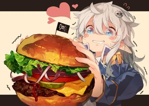 Rating: Safe Score: 76 Tags: aqua_eyes close food gray_hair heart loli long_hair original pointed_ears takotsu User: RyuZU