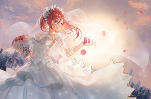 Rating: Safe Score: 106 Tags: blue_eyes breasts building city cleavage clouds dress flowers go-toubun_no_hanayome headdress long_hair nakano_miku red_hair rose sai_ichirou sky sunset wedding_attire User: BattlequeenYume