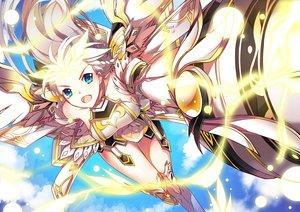 Rating: Safe Score: 68 Tags: aqua_eyes blonde_hair elsword vilor weapon wings User: Jahta