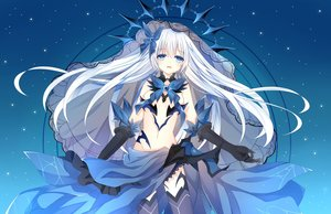 Rating: Safe Score: 105 Tags: aqua_eyes breasts chuugoku_tachibana cleavage date_a_live dress elbow_gloves gloves long_hair moon navel night no_bra ribbons sky stars thighhighs tobiichi_origami underboob white_hair User: BattlequeenYume