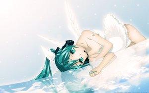 Rating: Safe Score: 108 Tags: aqua_eyes aqua_hair hatsune_miku headphones neko_sakana twintails vocaloid wings User: gnarf1975