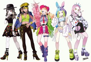 Rating: Safe Score: 21 Tags: animal_ears aqua_eyes bikini_top black_hair blonde_hair boots braids breasts brown_hair bunny_ears cleavage collar cowgirl fang gothic green_eyes green_hair group hat headband hoodie long_hair navel original pink_eyes pink_hair puppeteer7777 purple_eyes red_eyes short_hair shorts signed skirt socks tattoo tie twintails white wristwear yellow_eyes User: sadodere-chan