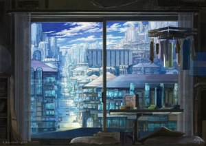 Rating: Safe Score: 32 Tags: blue building city k_kanehira nobody original scenic watermark User: FormX