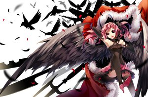 Rating: Safe Score: 126 Tags: animal bird pink_hair pixiv_fantasia tagme thighhighs tsukii wings User: opai