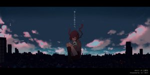 Rating: Safe Score: 30 Tags: aie braids building city clouds hug long_hair madotsuki night sky watermark yume_nikki User: BattlequeenYume