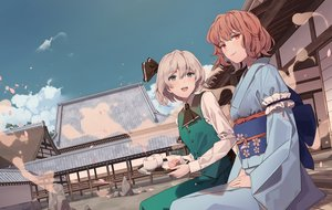 Rating: Safe Score: 55 Tags: 2girls building cherry_blossoms drink flowers japanese_clothes kimono konpaku_youmu maachi_(fsam4547) saigyouji_yuyuko touhou waifu2x User: BattlequeenYume