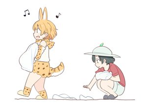 Rating: Safe Score: 6 Tags: 2girls animal_ears anthropomorphism black_hair blonde_hair catgirl elbow_gloves gloves hat kaban kasa_list kemono_friends music polychromatic serval short_hair skirt tail white User: otaku_emmy
