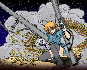 Rating: Safe Score: 1 Tags: gun hellsing seras_victoria thighhighs weapon User: Oyashiro-sama