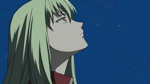 Rating: Safe Score: 8 Tags: amber close darker_than_black green_hair long_hair sky stars vector yellow_eyes User: RyuZU