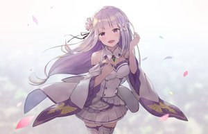 Rating: Safe Score: 42 Tags: blush breasts emilia_(re:zero) gradient kyomu_(kyomu_lwl) long_hair petals purple_eyes purple_hair re:zero_kara_hajimeru_isekai_seikatsu skirt thighhighs User: RyuZU