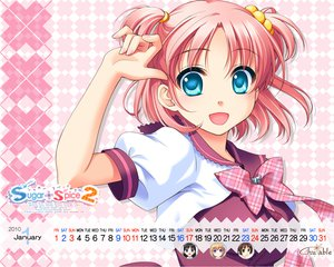 Rating: Safe Score: 21 Tags: amamoto_fuuka close ginta pink_hair school_uniform skirt sugar+spice_2 twintails User: Yunocchi
