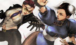Rating: Safe Score: 27 Tags: 2girls braids breasts brown_eyes brown_hair chinese_clothes chun-li cleavage crimson_viper gloves red_hair street_fighter sunglasses tie yukikotsu User: SonicBlue