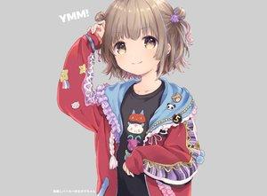 Rating: Safe Score: 39 Tags: brown_eyes brown_hair cropped gray hoodie konayama_kata loli original short_hair wristwear User: otaku_emmy