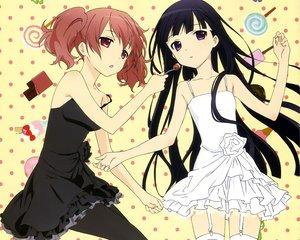 Rating: Safe Score: 240 Tags: 2girls candy cropped dress inu_x_boku_ss kiyomaru_satoru pantyhose roromiya_karuta shirakiin_ririchiyo stockings User: Wiresetc