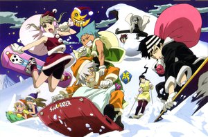 Rating: Safe Score: 40 Tags: black_star christmas death_scythe_(soul_eater) death_the_kid elizabeth_thompson franken_stein maka_albarn nakatsukasa_tsubaki patricia_thompson soul_eater soul_eater_evans User: korokun