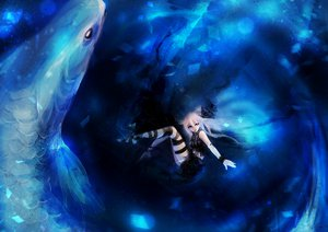 Rating: Safe Score: 119 Tags: animal deep-sea_girl_(vocaloid) fish ia reiami underwater vocaloid water User: FormX