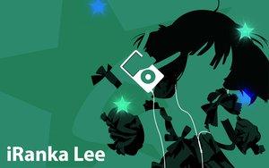 Rating: Safe Score: 8 Tags: green ipod macross macross_frontier parody ranka_lee silhouette User: atlantiza