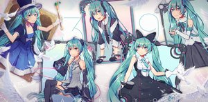 Rating: Safe Score: 15 Tags: animal aqua_eyes aqua_hair bird dress elbow_gloves gloves hat hatsune_miku jpeg_artifacts long_hair magical_mirai_(vocaloid) microphone skirt tattoo thighhighs tie twintails vocaloid wenz User: RyuZU