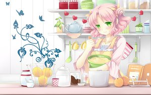 Rating: Safe Score: 59 Tags: apron cafe_sourire food mizushima_kasumi natsume_eri pink_hair short_hair User: Wiresetc