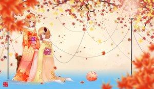Rating: Safe Score: 58 Tags: 2girls aki_minoriko aki_shizuha autumn dusk/dawn japanese_clothes kimono leaves touhou water User: FormX