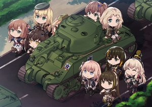 Rating: Safe Score: 17 Tags: alisa_(girls_und_panzer) anthropomorphism aqua_eyes blonde_hair boots brown_eyes brown_hair chibi crossover eyepatch girls_frontline girls_und_panzer gloves gray_eyes group hat headphones kay_(girls_und_panzer) long_hair m14_(girls_frontline) m16a1_(girls_frontline) m1_garand_(girls_frontline) m2hb_(girls_frontline) m4a1_(girls_frontline) m4_sopmod_ii_(girls_frontline) persocon93 pink_hair ponytail red_eyes ribbons ro635_(girls_frontline) robot short_hair springfield_(girls_frontline) st_ar-15_(girls_frontline) stockings twintails uniform yellow_eyes User: Nepcoheart