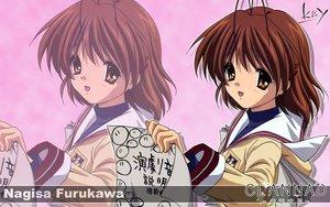 Rating: Safe Score: 6 Tags: brown_eyes brown_hair clannad dango_(clannad) furukawa_nagisa key logo paper school_uniform short_hair zoom_layer User: Oyashiro-sama