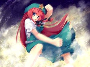 Rating: Safe Score: 18 Tags: blue_eyes hong_meiling long_hair red_hair touhou User: Oyashiro-sama