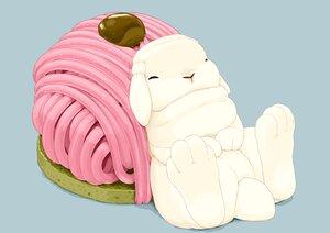 Rating: Safe Score: 9 Tags: animal blue cake food lilac_(pfeasy) nobody original rabbit User: otaku_emmy