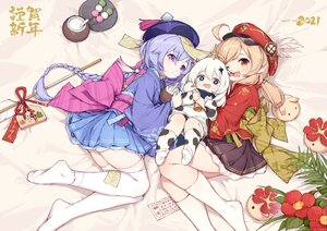 Rating: Safe Score: 105 Tags: animal_ears blonde_hair blue_eyes blue_hair braids cowgirl drink food genshin_impact hat horns japanese_clothes kimono klee_(genshin_impact) kneehighs loli long_hair ofuda paimon_(genshin_impact) pointed_ears purple_eyes qiqi_(genshin_impact) red_eyes scarf skirt tears thighhighs timeo twintails white_hair wink User: otaku_emmy