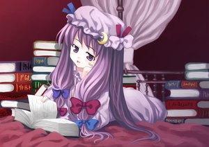 Rating: Safe Score: 14 Tags: book hat long_hair patchouli_knowledge purple_eyes purple_hair ribbons touhou User: Tensa