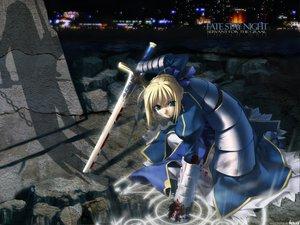 Rating: Safe Score: 0 Tags: armor artoria_pendragon_(all) blonde_hair blood dress fate_(series) fate/stay_night green_eyes magic saber short_hair sword water watermark weapon User: Oyashiro-sama