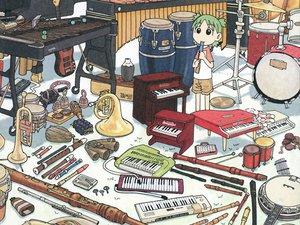 Rating: Safe Score: 31 Tags: azuma_kiyohiko drums flute guitar instrument koiwai_yotsuba music piano yotsubato! User: Oyashiro-sama