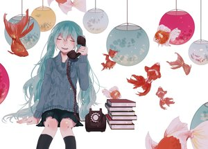 Rating: Safe Score: 32 Tags: animal book danjou_sora fish hatsune_miku phone vocaloid User: FormX