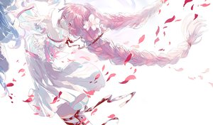 Rating: Safe Score: 66 Tags: braids hatsune_miku oriichi petals ribbons sakura_miku vocaloid yuki_miku User: FormX