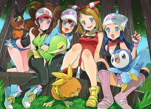 Rating: Safe Score: 86 Tags: aqua_eyes blue_hair blush breasts brown_hair eudetenis grass haruka_(pokemon) hat hikari_(pokemon) long_hair mei_(pokemon) piplup pokemon scarf short_hair shorts signed sky snivy tepig torchic touko_(pokemon) tree User: mattiasc02