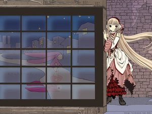 Rating: Safe Score: 9 Tags: blonde_hair boots brown_eyes chii chobits dress headdress long_hair User: gnarf1975