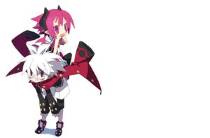 Rating: Safe Score: 30 Tags: 16ban disgaea glasses horns mao_(disgaea) photoshop pink_eyes pink_hair pointed_ears raspberyl red_eyes short_hair white_hair User: Katsumi