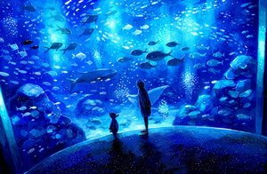 Rating: Safe Score: 58 Tags: animal blue fish nomiya_(no_38) original seifuku short_hair User: Flandre93